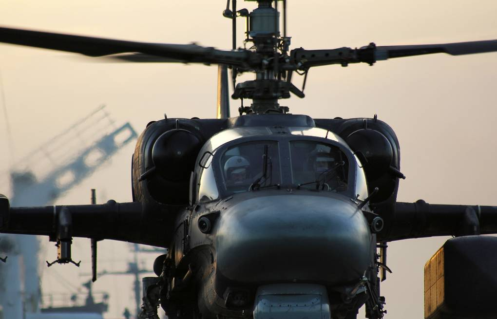 Ka-52K helicopter Andrei Luzik/Russian Navy Northern Fleet Press Office/TASS