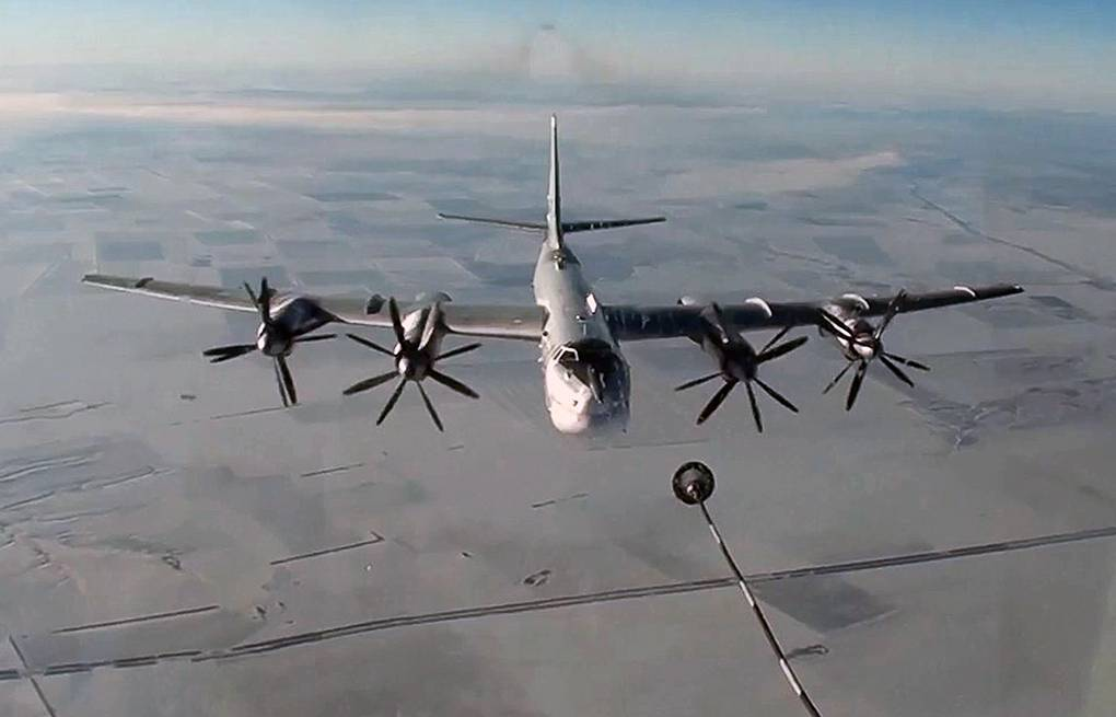 Tu-95MS strategic bomber Russian Defense Ministry's Press and Information Department/TASS