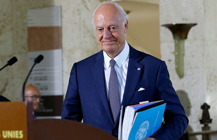 UN Secretary General's Special Envoy for Syria Staffan de Mistura REUTERS/Denis Balibouse