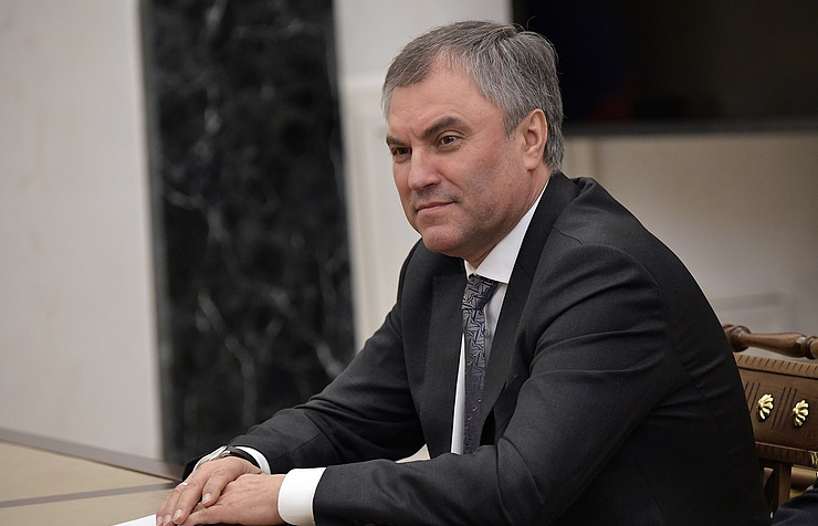 Speaker of the Russian State Duma lower parliament house Vyacheslav Volodin Alexei Nikolsky/Russian Presidential Press and Information Office/TASS