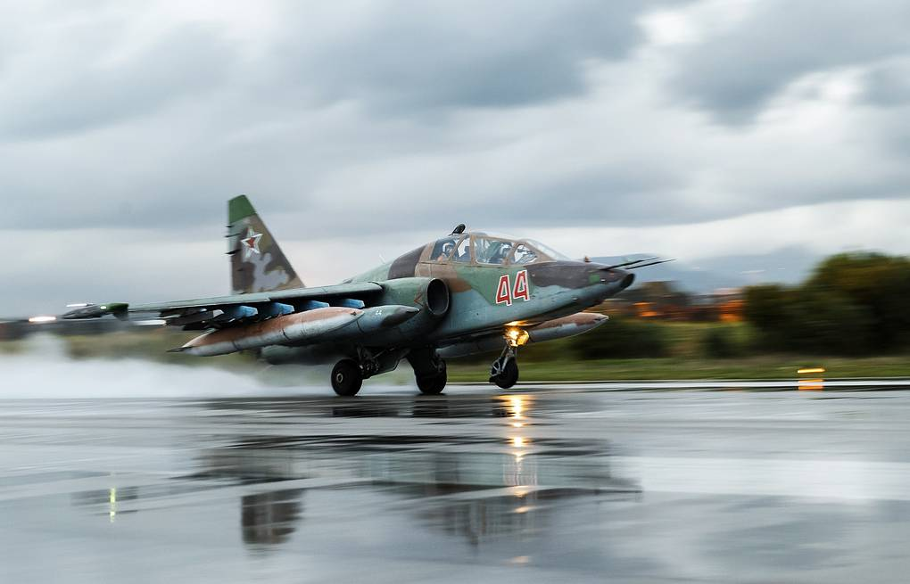 Su-25 plane Vadim Grishankin/Russian Defense Ministry Press and Information Office/TASS