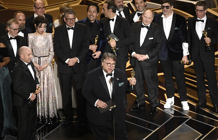 Guillermo del Toro (in the center)  Chris Pizzello/Invision/AP