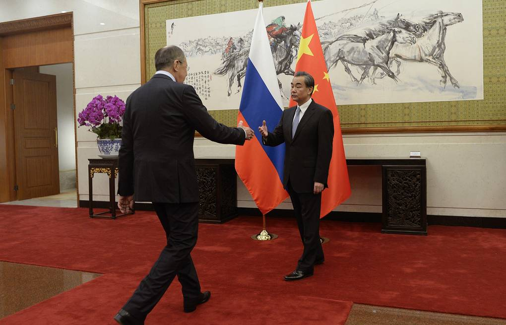 Russian Foreign Minister Sergey Lavrov and Chinese Foreign Minister Wang Yi, 2017 Wang Zhao/Pool Photo via AP