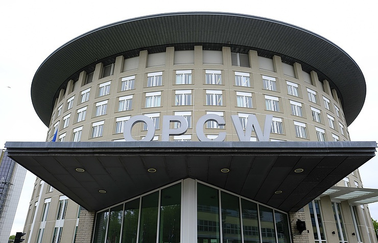 OPCW headquarters in The Hague  AP Photo/Peter Dejong