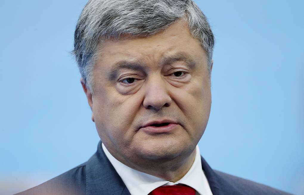 Ukrainian President Pyotr Poroshenko Tatyana Zenkovich/pool photo via AP
