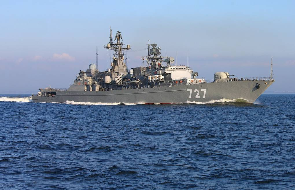 Russian Baltic Fleet missile frigate enters Gulf of Aden on anti