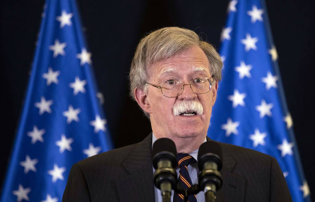 US national security adviser John Bolton Abir Sultan/Pool via AP