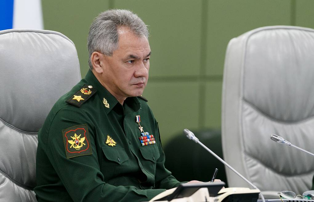 Russian Defense Minister Sergei Shoigu Vadim Savitsky/Russian Defense Ministry Press Office/TASS
