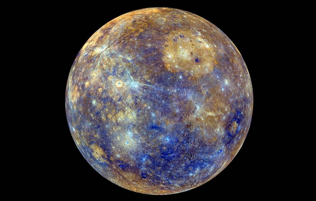 An enhanced-color image of Mercury taken during NASA's MESSENGER's primary mission (2011-2015) EPA-EFE/NASA/JHU Applied Physics Lab/Carnegie Inst. Washington