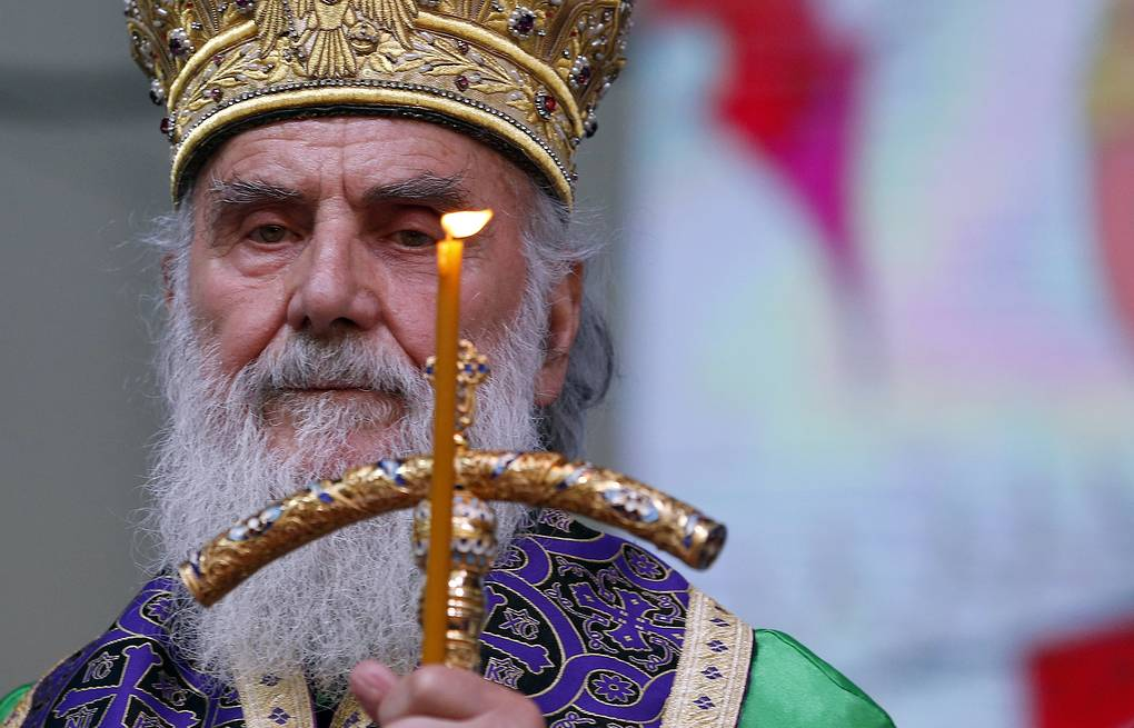 Serbian Orthodox Church Patriarch Irinej AP Photo/Darko Vojinovic