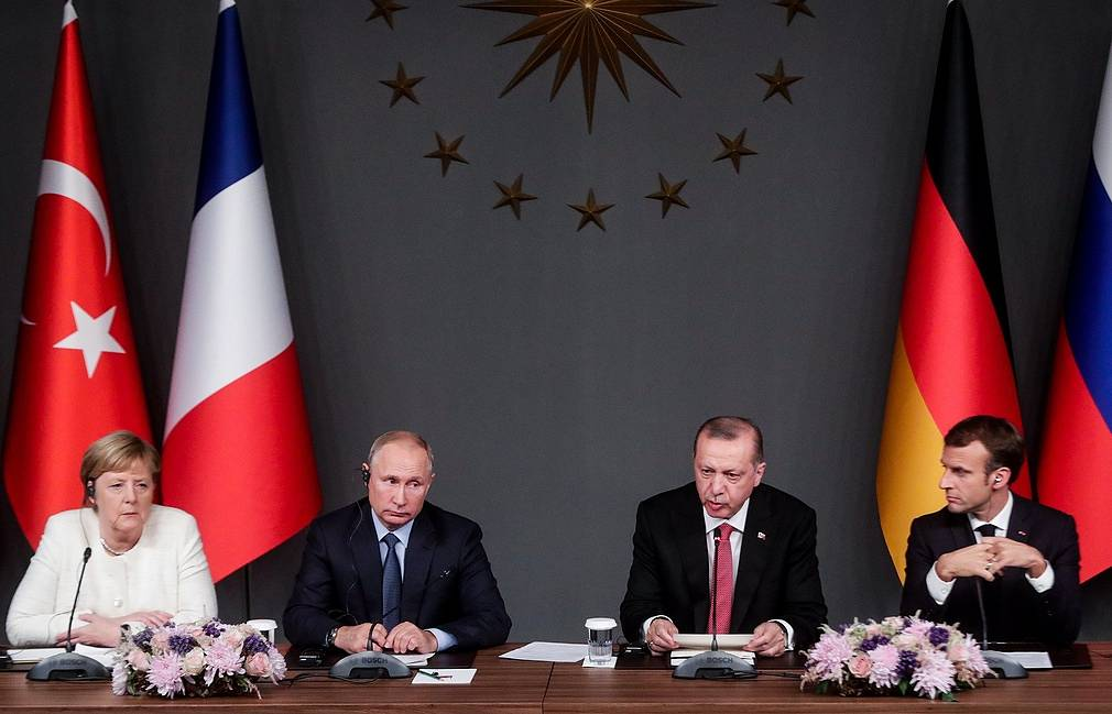 The leaders of Germany, Russia, Turkey and France Mikhail Metzel/TASS