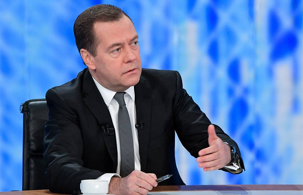 Russian Prime Minister Dmitry Medvedev Alexander Astafyev/Russian Government Press Office/TASS
