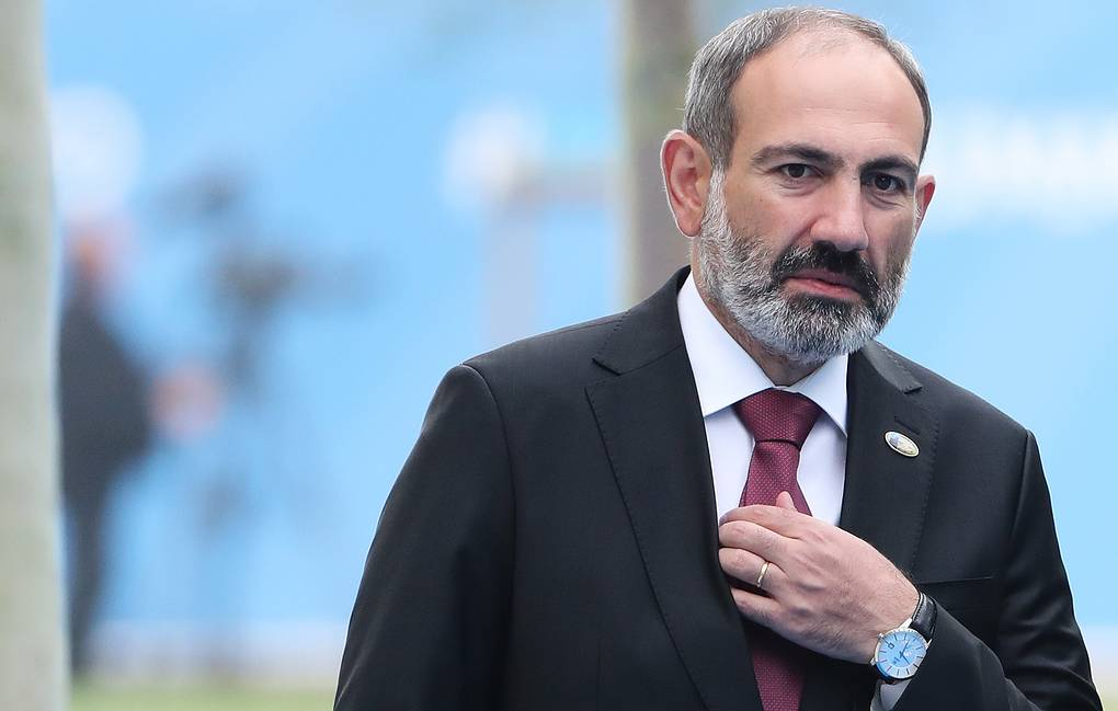 Acting PM of Armenia Nikol Pashinyan  Tatyana Zenkovich/pool photo via AP