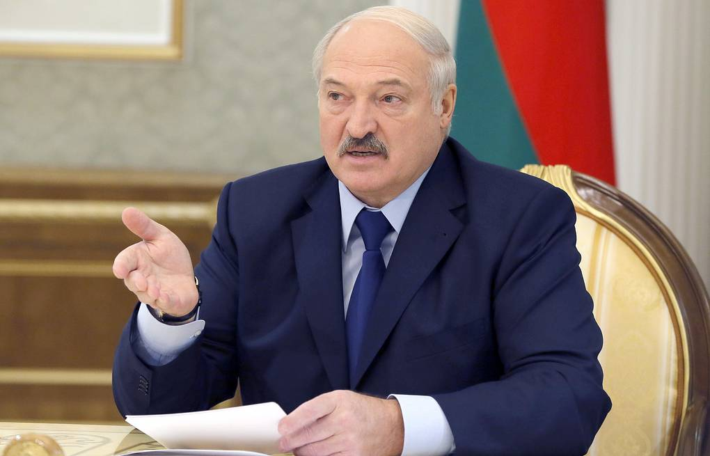 Belarusian President Alexander Lukashenko Yekaterina Shtukina/Russian Government Press Office/TASS