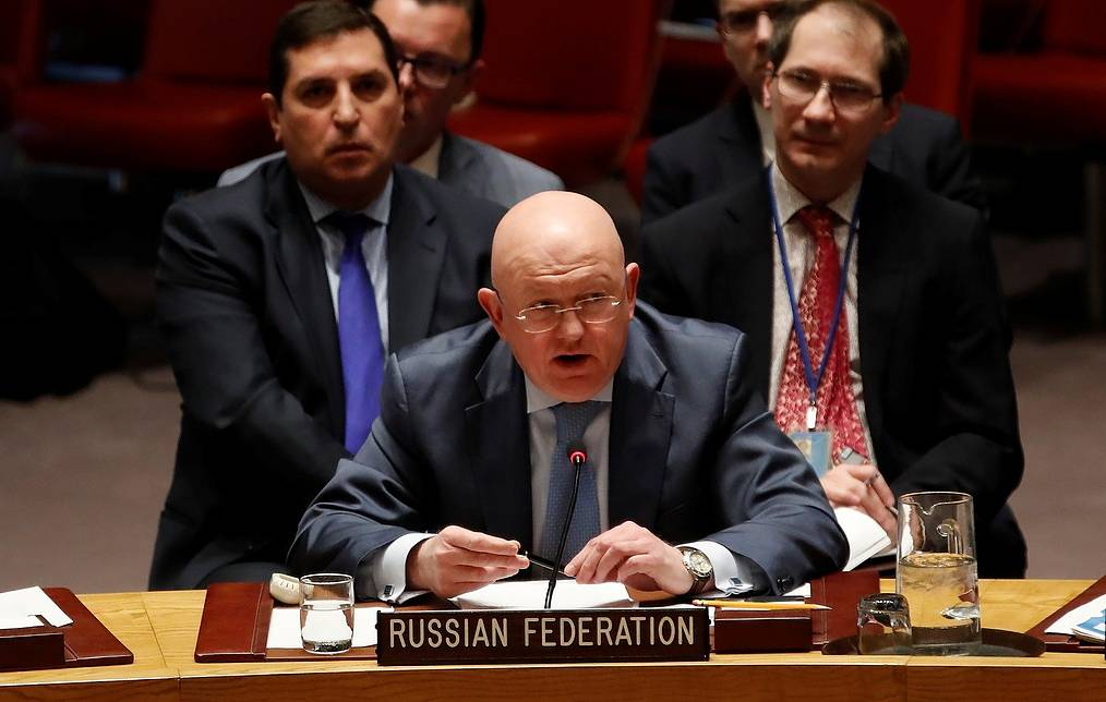 Russia's permanent representative to the United Nations Vasily Nebenzya REUTERS/Mike Segar