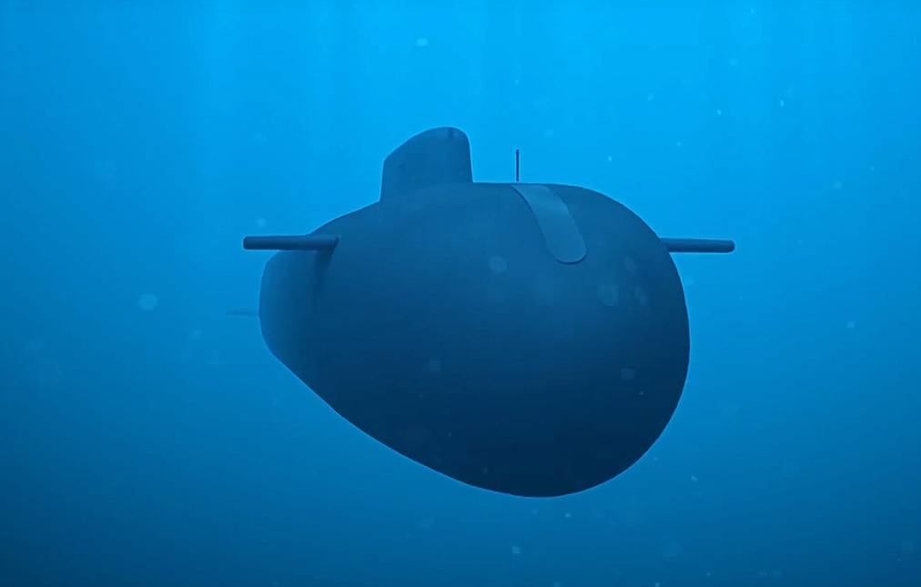 The Poseidon nuclear-powered and nuclear-armed unmanned underwater vehicle Press and Information Office of the Defence Ministry of the Russian Federation/TASS