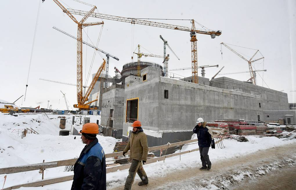 A view of the first Belarusian nuclear power plant, currently being built by Rosatom   Viktor Drachev/TASS