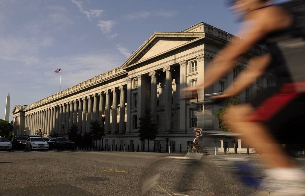 US Treasury Building in Washington EPA/MICHAEL REYNOLDS