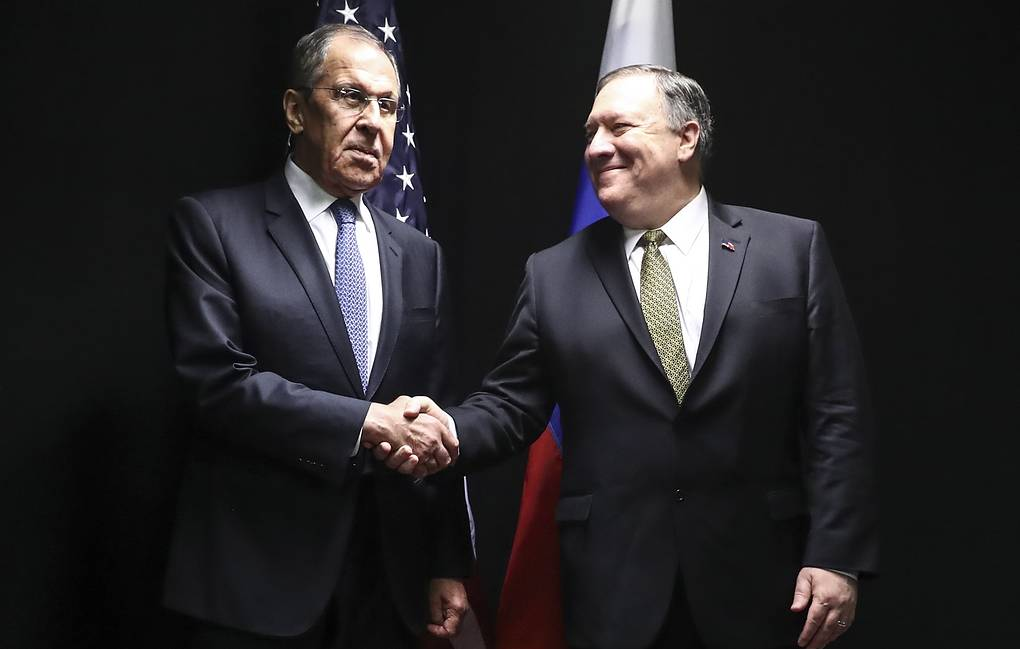 Russian Foreign Minister Sergey Lavrov and US Secretary of State Michael Pompeo Anton Novoderezhkin/TASS