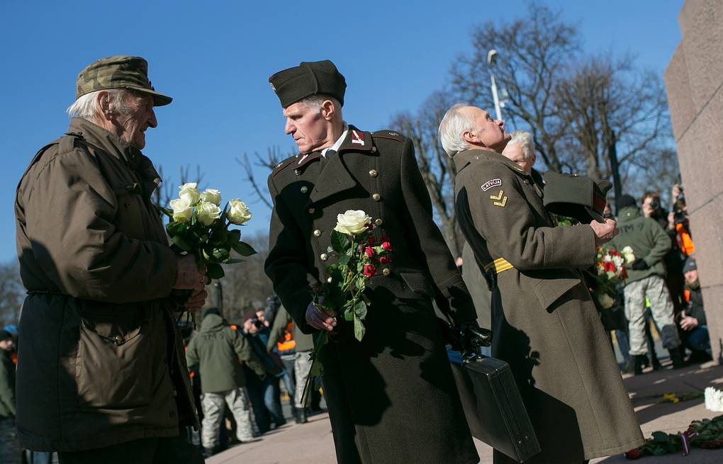 Ex-Waffen-SS members taking part in a march in Riga Kristina Kormilitsyna/TASS