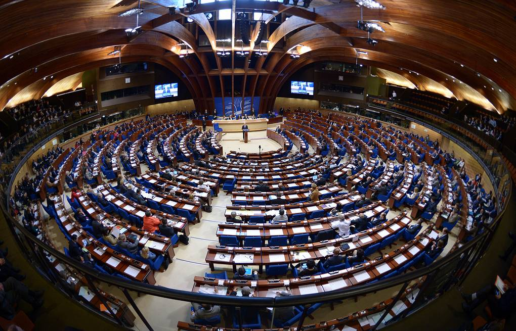Parliamentary Assembly of the Council of Europe in Strasbourg EPA/RAINER JENSEN