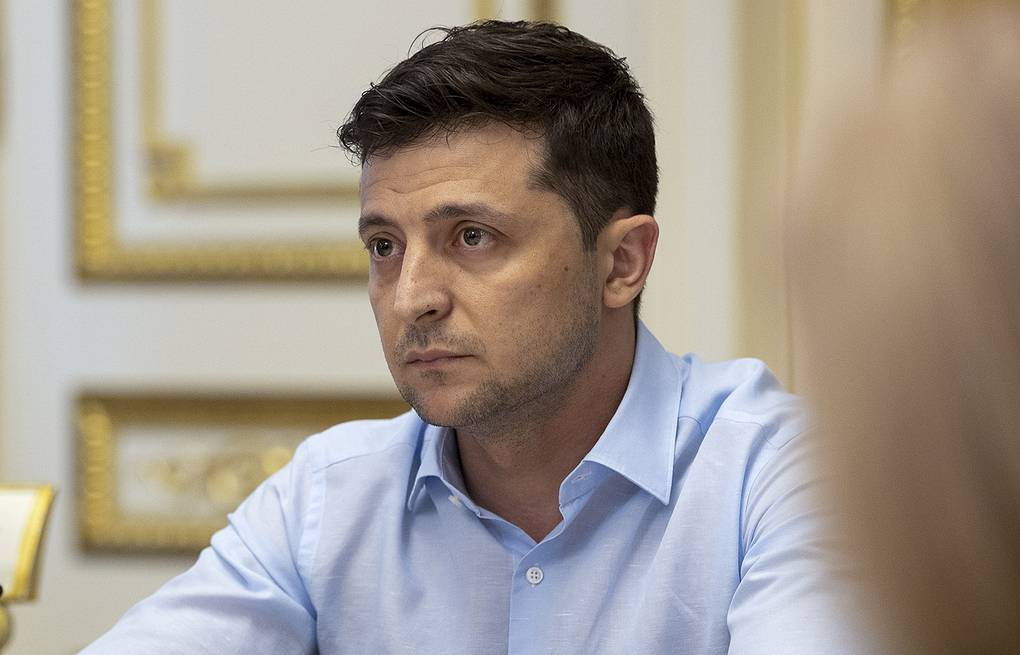 Ukrainian President Vladimir Zelensky Ukrainian Presidential Press Office via AP