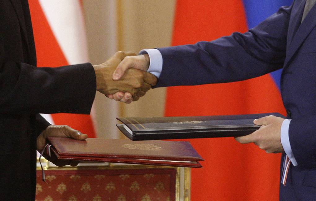 New START treaty signed by Russia and US in 2010 AP Photo/Petr David Josek