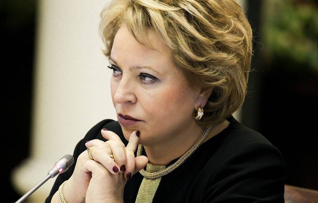 Federation Council speaker Valentina Matviyenko Federation Council press service