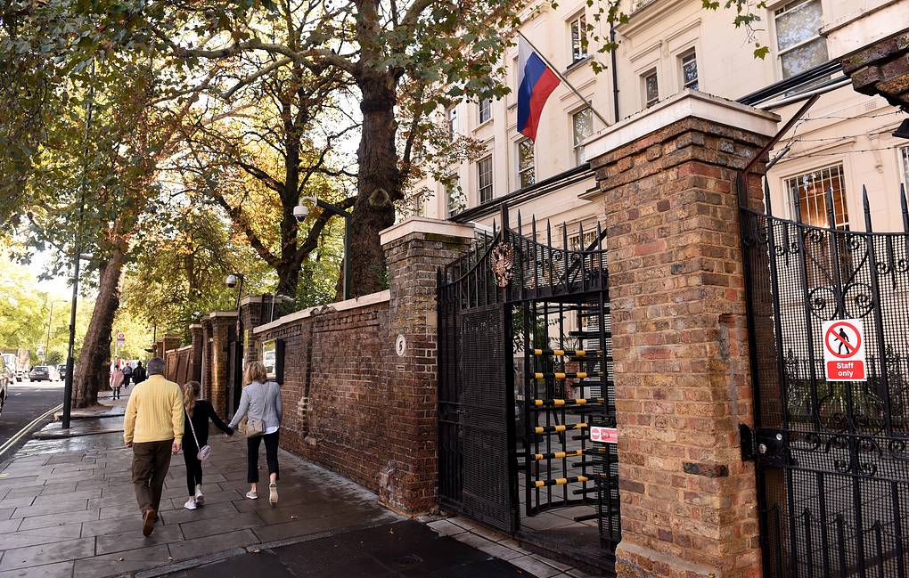 The Russian Embassy in London EPA-EFE/FACUNDO ARRIZABALAGA