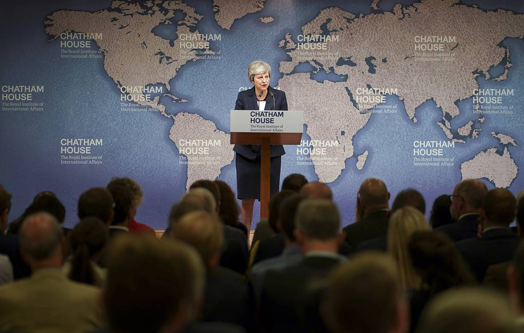 British Prime Minister Theresa May  Henry Nicholls/Pool via AP
