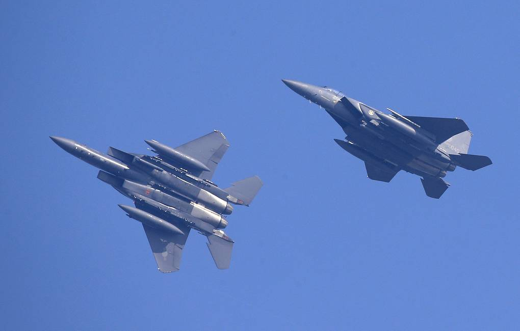 F-15K fighter jets from South Korea's airforce EPA-EFE/JEON HEON-KYUN