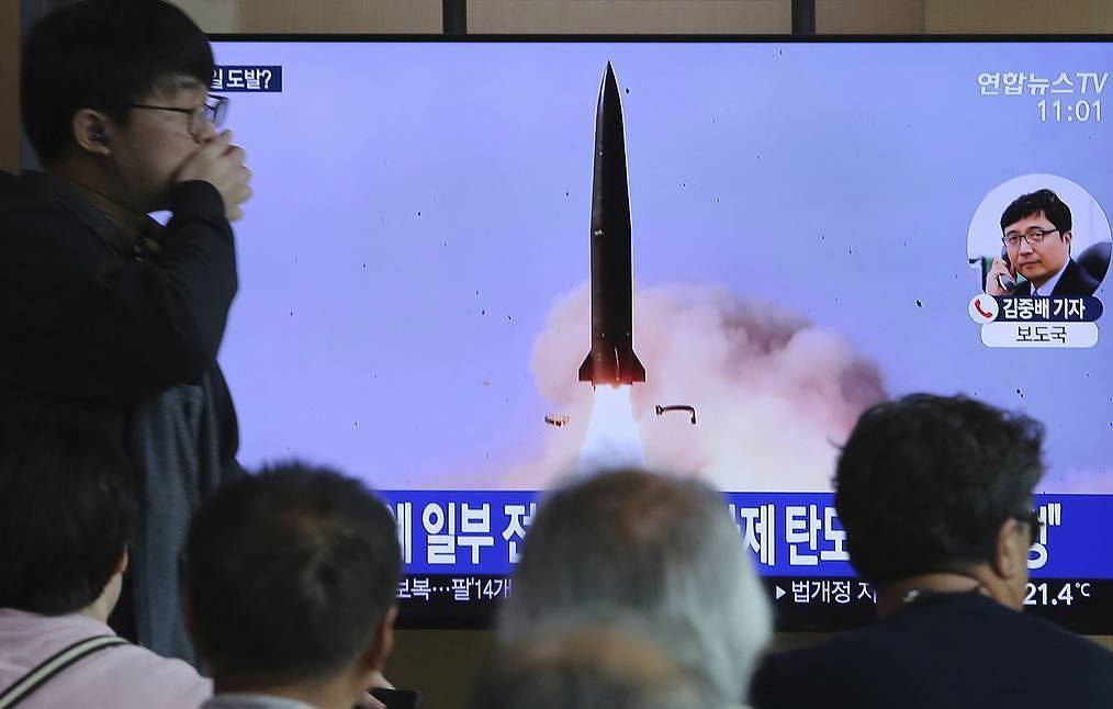 North Korea test-fires new type of short-range ballistic