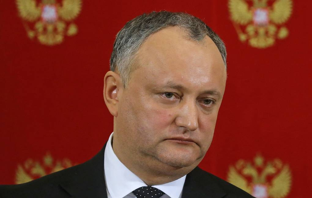 Moldovan President Igor Dodon Sergei Ilnitsky/Pool Photo via AP