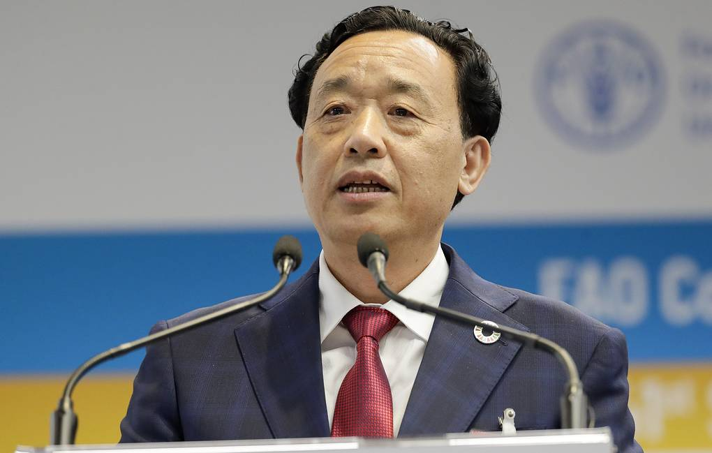 Director-General of the UN Food and Agriculture Organization Qu Dongyu AP Photo/Andrew Medichini