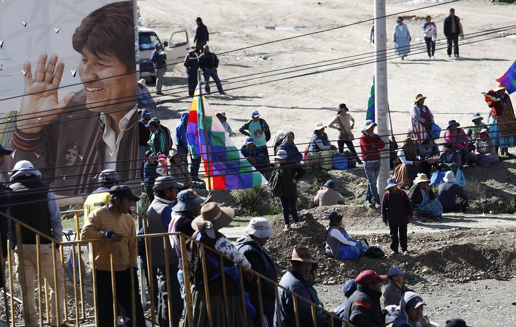 Supporters of Evo Morales in El Alto, Bolivia AP Photo/Natacha Pisarenko