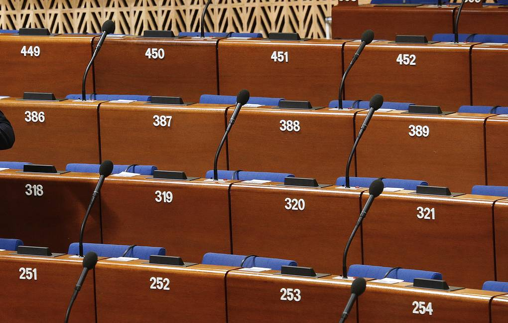 Prior to a plenary meeting of the Parliamentary Assembly of the Council of Europe (PACE) Mikhail Dzhaparidze/TASS