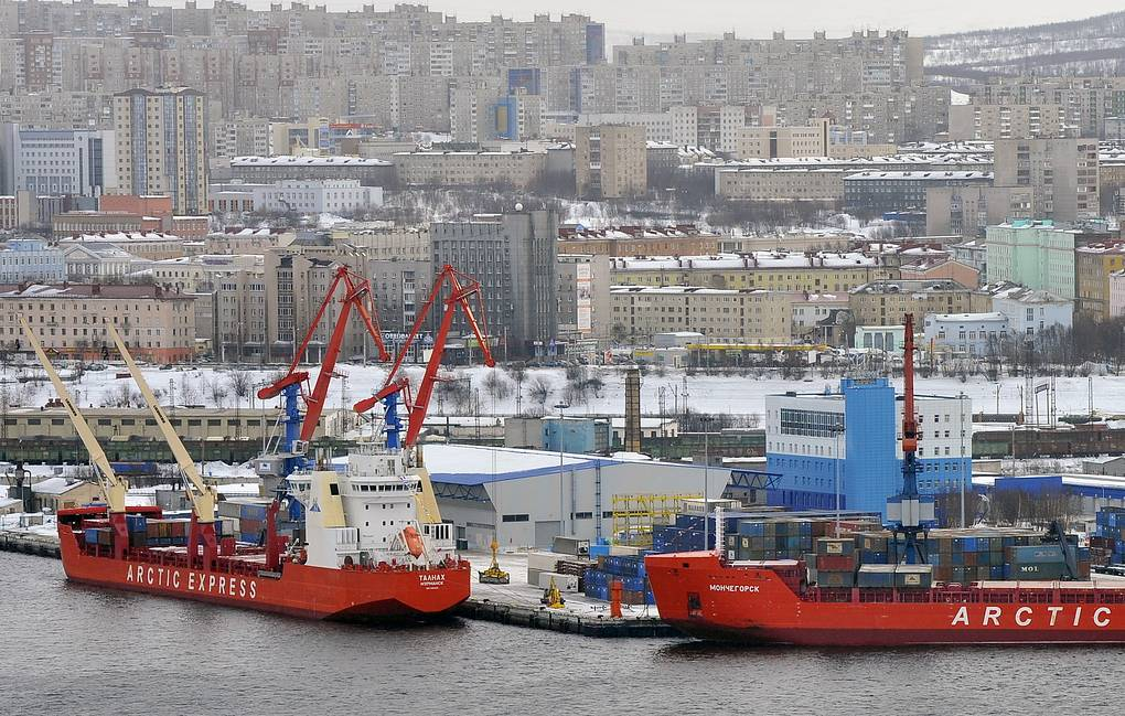 A view of the port in Russian city Murmansk Lev Fedoseev/TASS