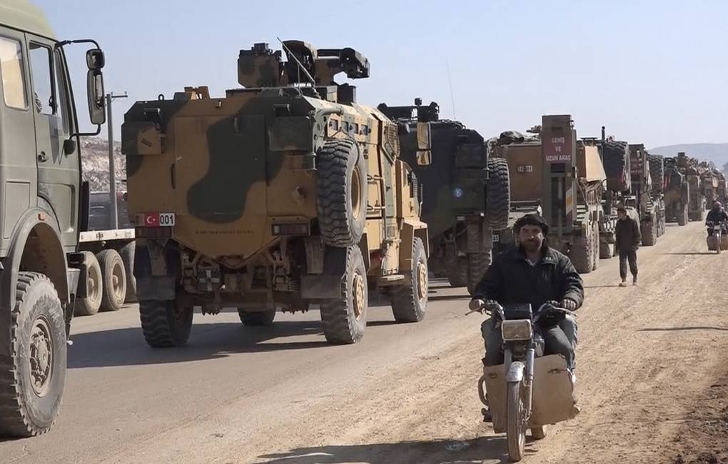 Turkey Armed Forces convoy is seen in Idlib province, Syria AP Photo/APTN