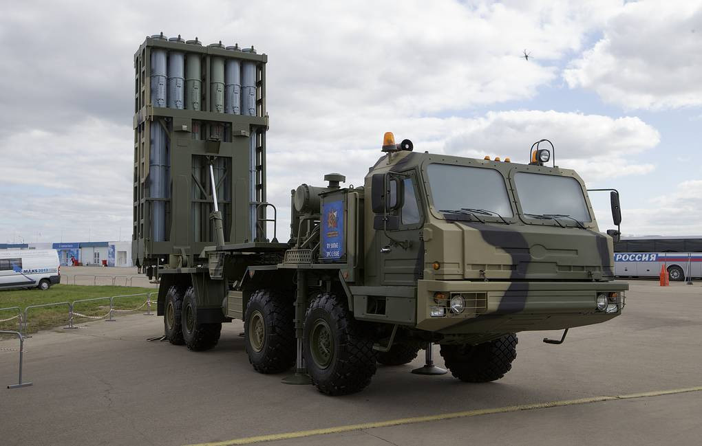 S-350 anti-aircraft missile system AP Photo/Ivan Sekretarev
