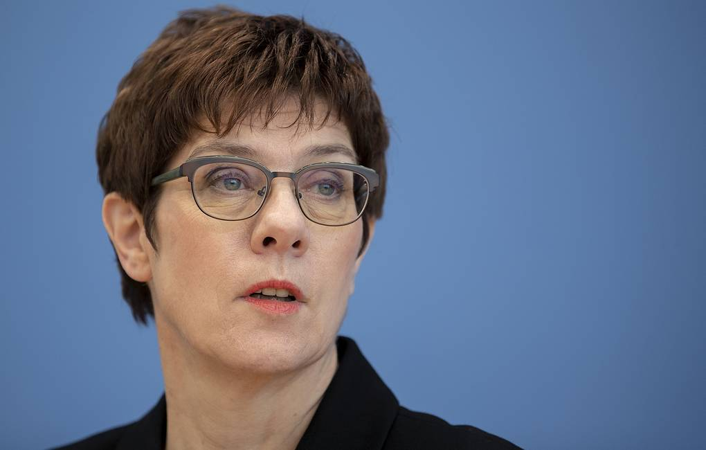 German Federal Minister of Defense Annegret Kramp-Karrenbauer AP Photo/Michael Sohn, pool