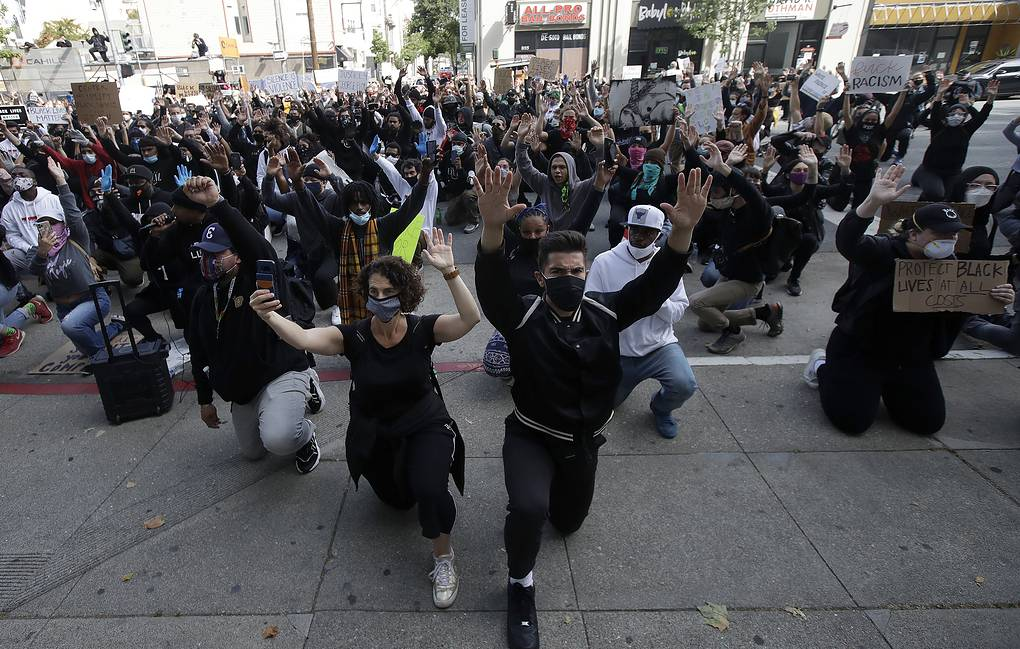 Protests in San Francisco following the death of George Floyd  AP Photo/Jeff Chiu