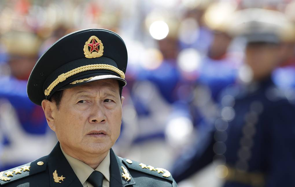 China's Defense Minister Wei Fenghe  AP Photo/Eraldo Peres