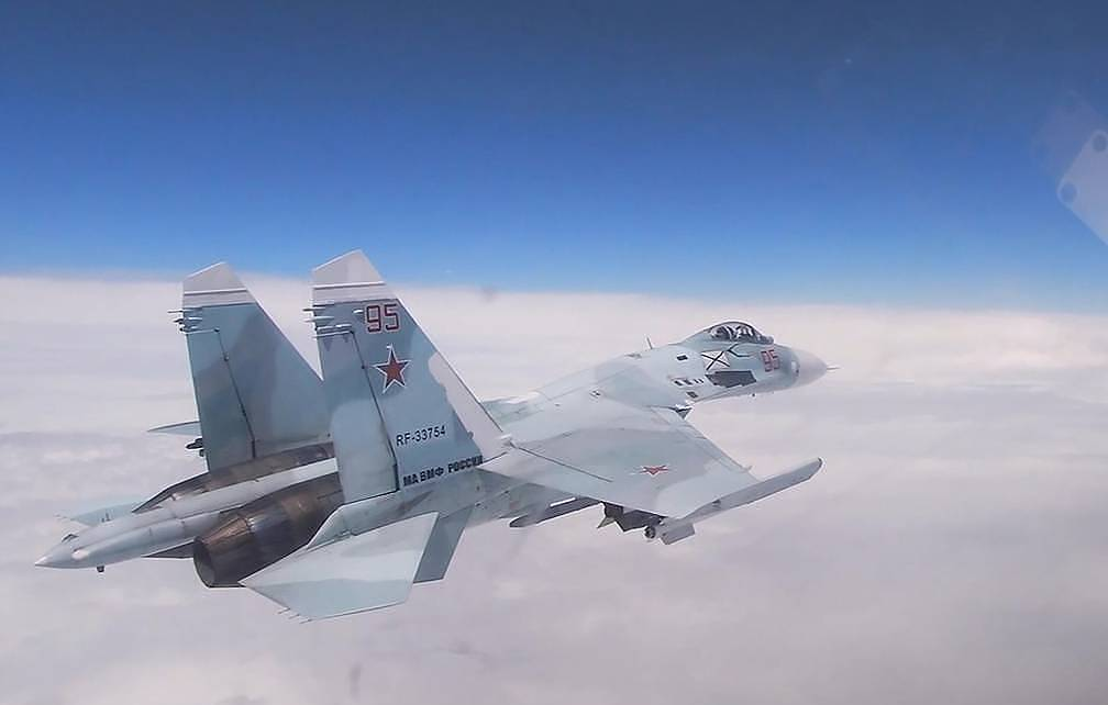 A Russian Su-27 fighter A screenshot from a video/Press service of the Russian Defense Ministry/TASS, archive