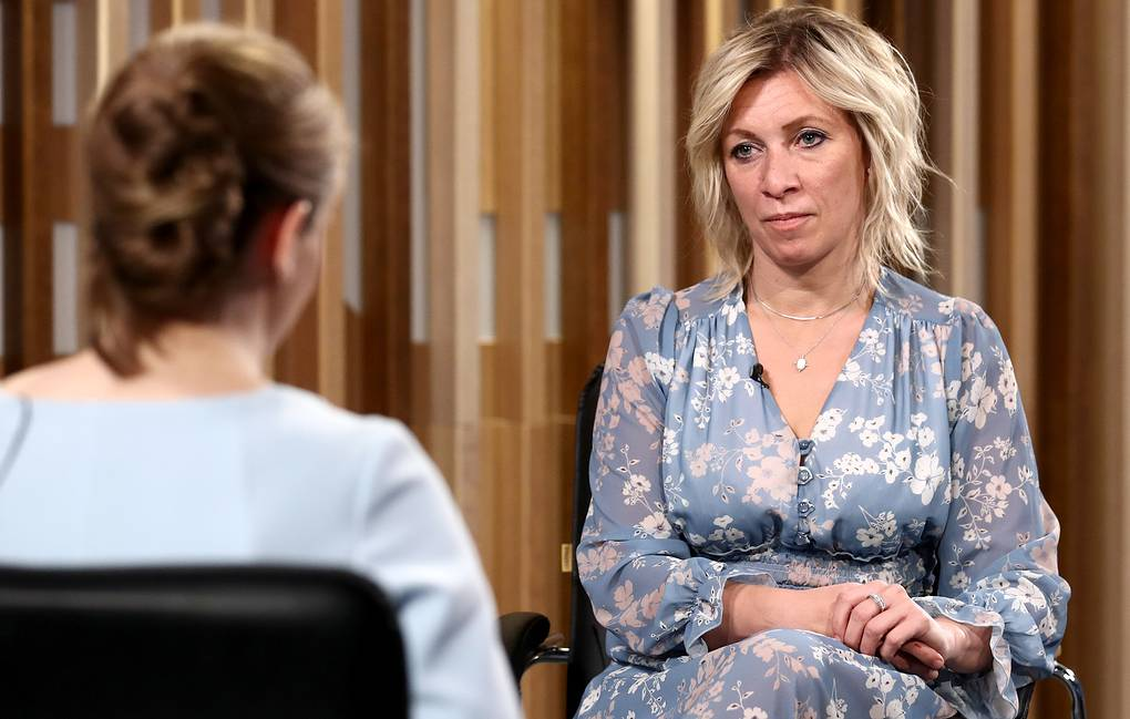 Russian Foreign Ministry Spokeswoman Maria Zakharova gives an interview to Russian News Agency TASS Valery Sharifulin/TASS