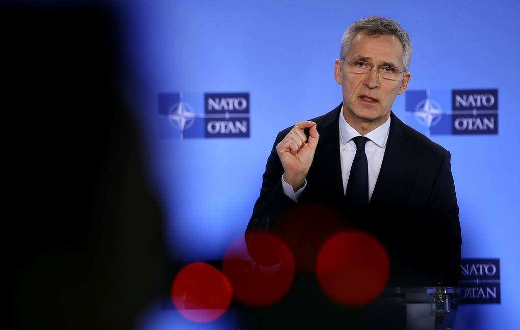 NATO Secretary-General Jens Stoltenberg AP Photo/Olivier Matthys