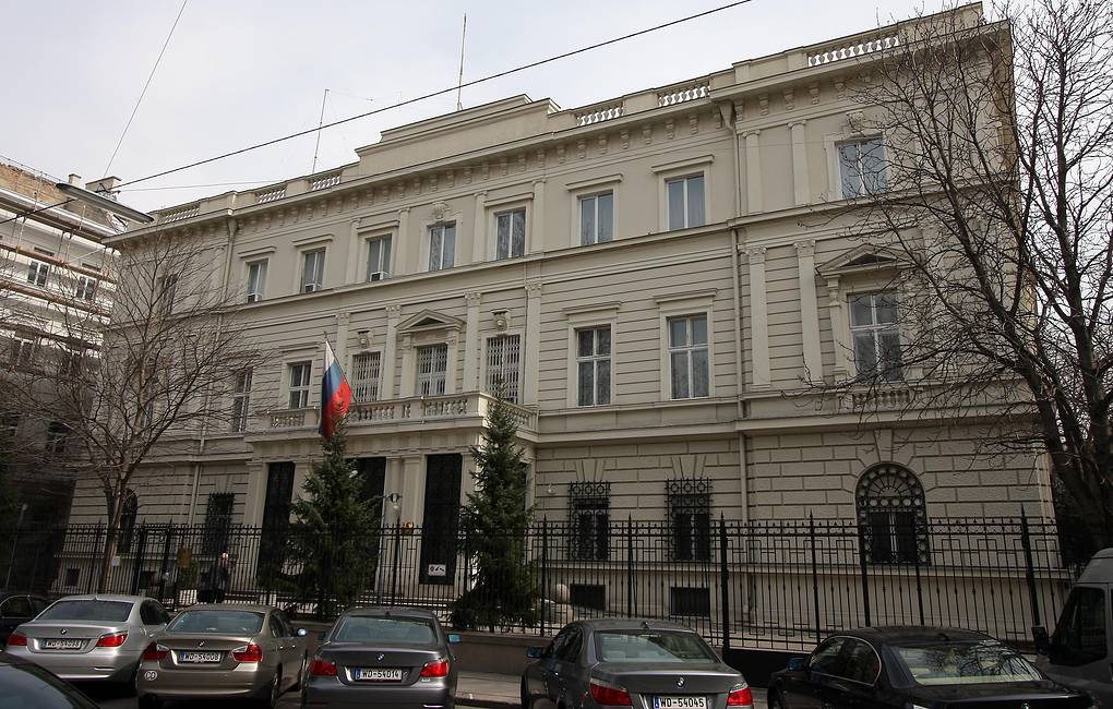 Russian embassy in Vienna AP Photo/Ronald Zak