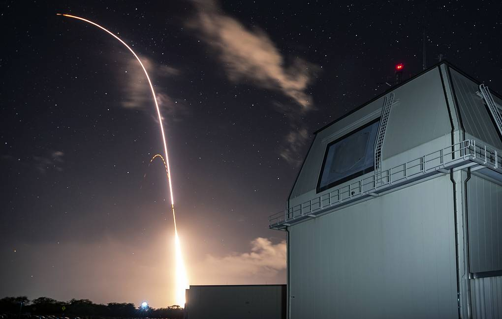 US military's land-based Aegis missile defense testing system Mark Wright/Missile Defense Agency via AP