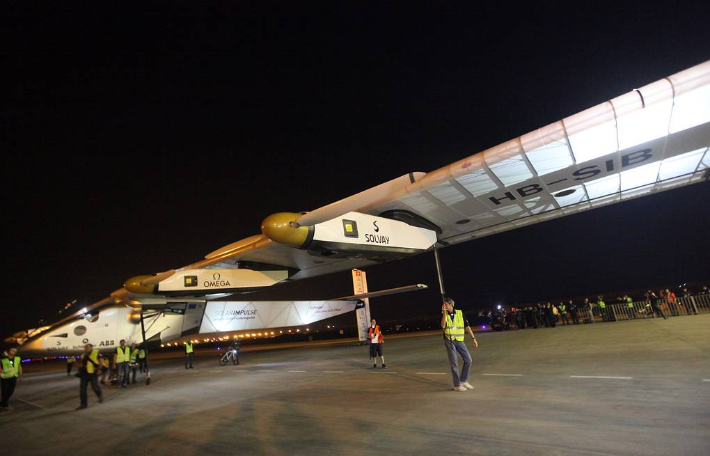 Cамолет Solar Impulse 2 EPA/STR CHINA OUT