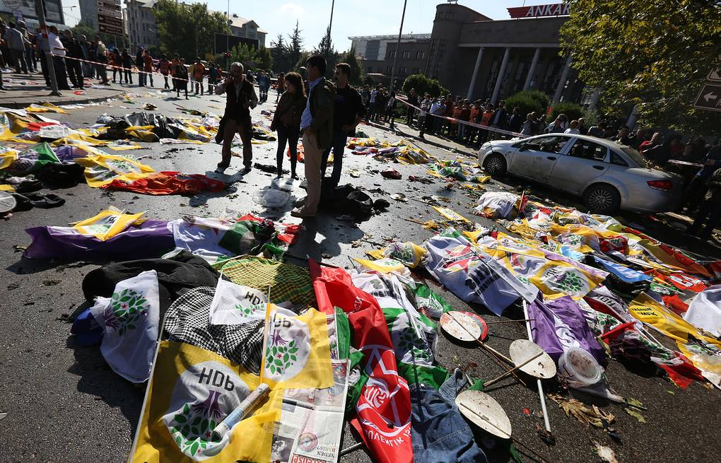 Explosions in Turkey's capital city AP Photo/Burhan Ozbilici
