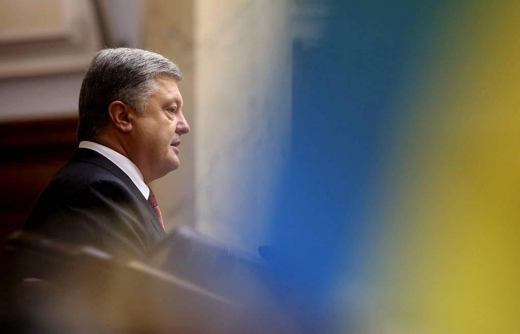 Президент Украины Петр Порошенко Mikhail Palinchak/Ukrainian Presidential Press Service/Handout via REUTERS